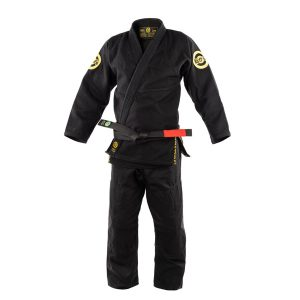 Black BJJ Gi Gold Weave Jiu-Jitsu