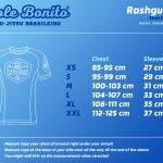 Short Sleeve Rash Guard – Size Chart