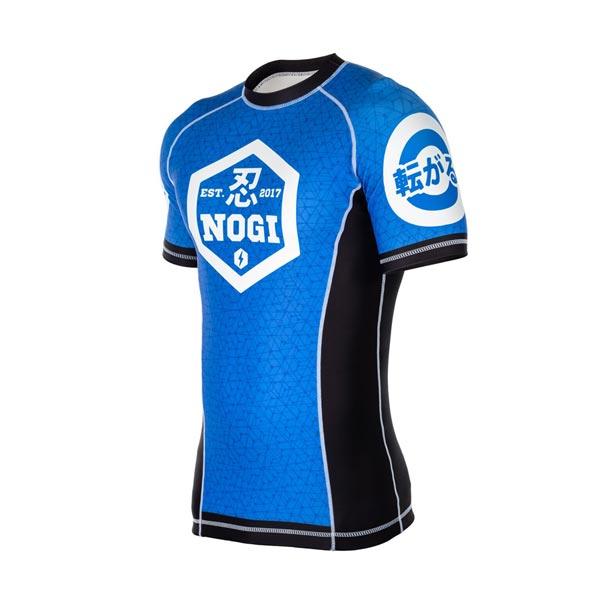 NOGI, Lycra Rash Guard BJJ Blaue Farbe