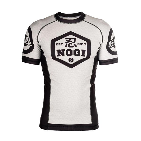 BJJ White Rash Guard NOGI