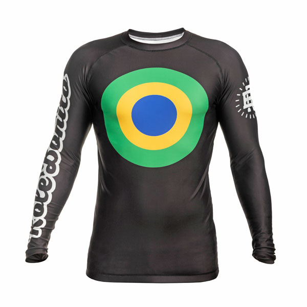 BJJ Rash Guard Long Sleeve for NoGi Brazilian Jiu-Jitsu