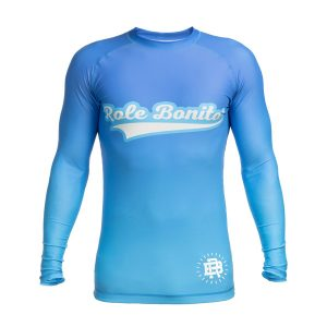 No Gi BJJ Long Sleeve Blue Rash Guard