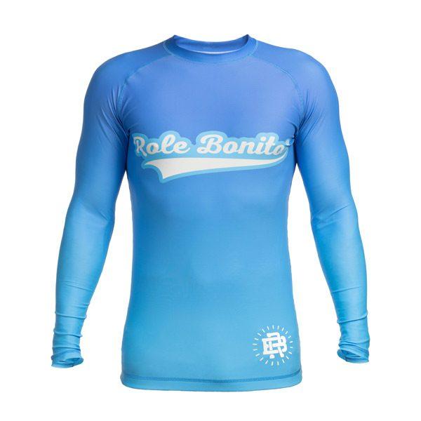 Long Sleeve Blue Rash Guard – Front