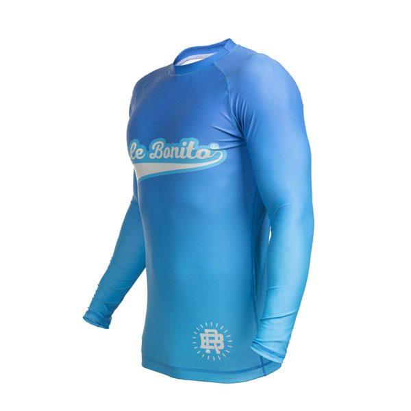Long Sleeve Blue Rash Guard – Left Side