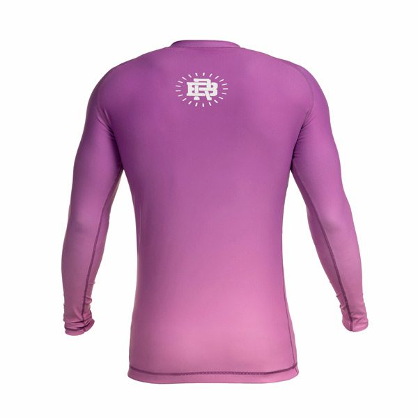 Long Sleeve Purple Rash Guard – Back