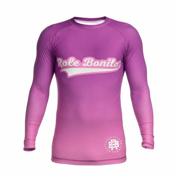 Long Sleeve Purple Rash Guard – Front