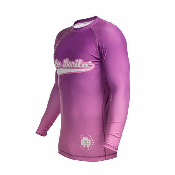 Long Sleeve Purple Rash Guard – Left Side