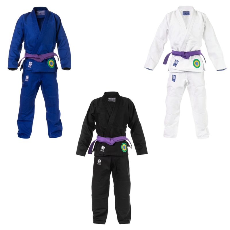 BJJ Gis blue, white and black Brazilian Jiu-Jitsu Kimonos